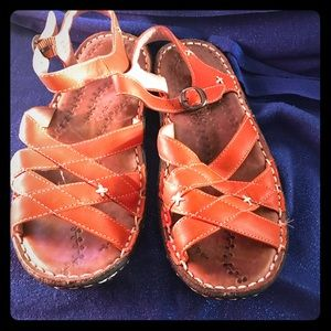 Keen Cush comfortable rust orange sandals